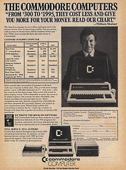 Commodore PET ad from 1982